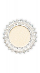 Display Nail Art Plate -  Round Pearls