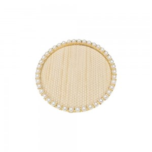 Display Nail Art Plate - Rounded Pearls Gold