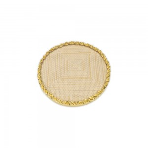 Display Nail Art Plate - Rounded Gold