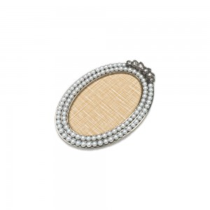 Display Nail Art Plate - Oval Pearls Graphite
